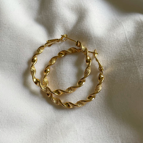 Twisted Mind Gold Hoops