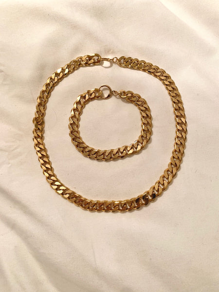 Higher Love Chain Bracelet-Au+ORA