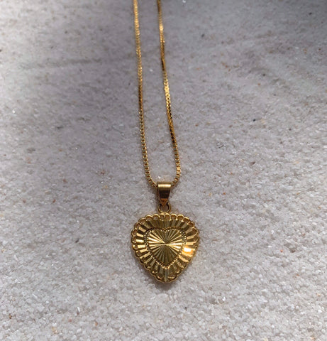 HeartBreaker 18k Gold Necklace with Heart Charm-Au+ORA