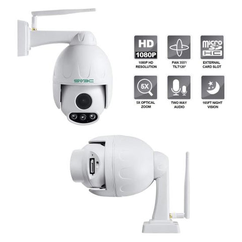 Image of 1080p Outdoor PTZ Camera,Pan Tilt Zoom (5X Optical Zoom), IP66 Waterproof,Dome Camera With Audio, Support 128g SD Card.