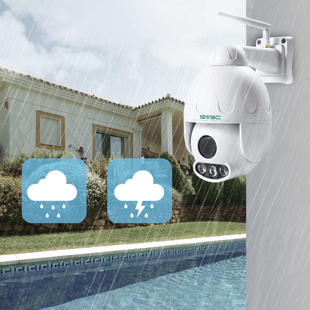 1080p Outdoor PTZ Camera,Pan Tilt Zoom (5X Optical Zoom), IP66 Waterproof,Dome Camera With Audio, Support 128g SD Card.