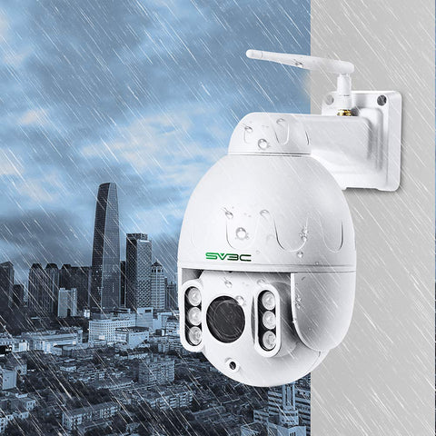 Image of SV3C PTZ WiFi Camera Outdoor, 1080p Wireless Security IP Camera, Pan Tilt 5X Optical Zoom, Two Way Audio, 196ft Night Vision, Waterproof Surveillance CCTV, Motion Detection Alarm, Support Max 128GB SD