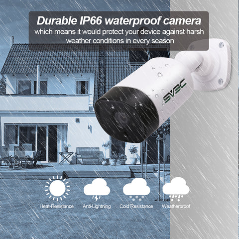 Click image to open expanded view POE Camera, SV3C 3MP HD 2048 x 1536 Poe Security Camera Outdoor Indoor Video Surveillance, IP POE Security Camera Support One-Way Audio, ONVIF, Waterproof, IR Night Vision, Motion Detection