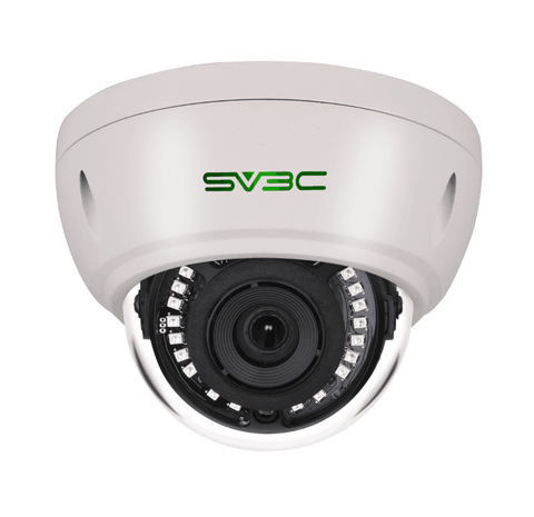 SV3C IP POE Security Camera Indoor Outdoor, ProHD 3 Megapixel Wired Dome Surveillance Camera,65ft IR Night Vision Camera with Motion Detection, IP66 Waterproof H.265 Onvif Compatible