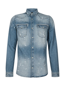 Painted Denim Shirt - Blue