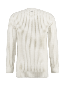 Knitted Rib Crewneck - Off White