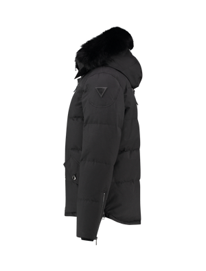 Puffer Down Fur Jacket - Black