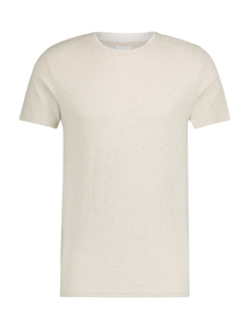 Double Collar Soft T-shirt - Sand
