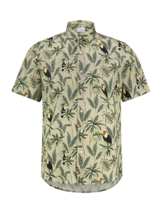 Leafs Bird Shirt - Sand