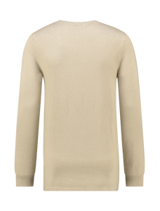 Essential Knitted Crewneck Jumper - Sand