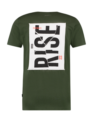 Pigment Print T-Shirt - Army Green