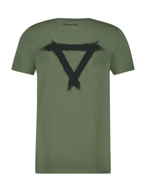 Double Collar T-Shirt - Army Green