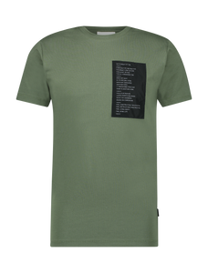 Patched T-Shirt - Army Green