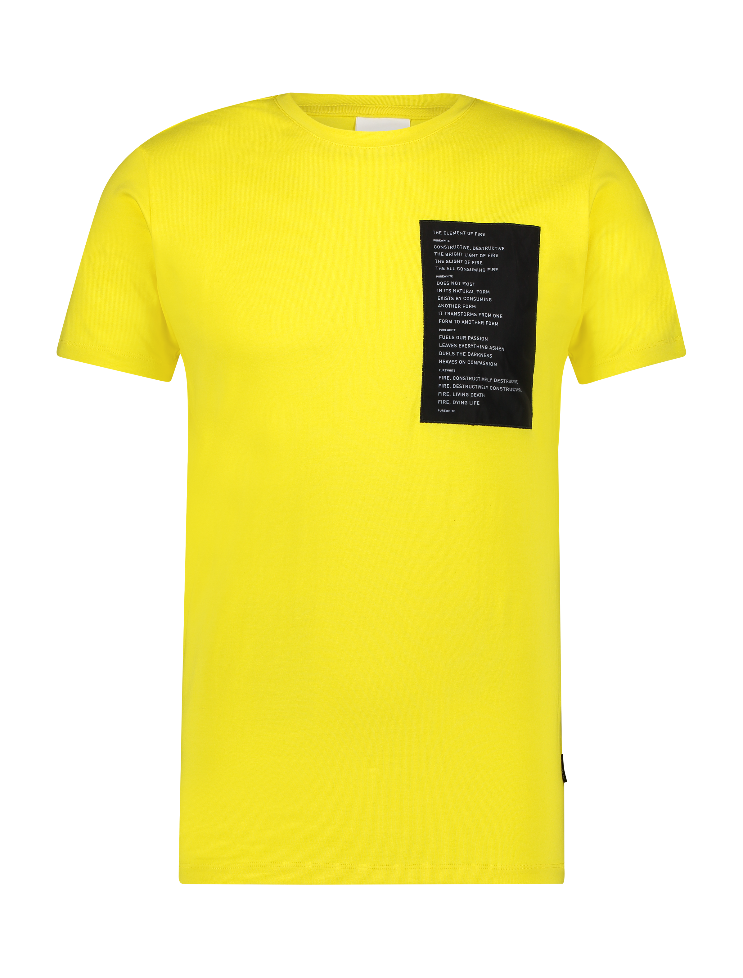 Patched T-Shirt - Yellow