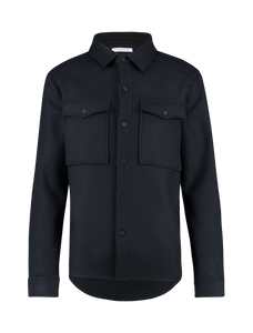 Woollen Shirt - Navy