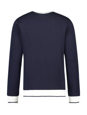 Contrast Sweater - Navy