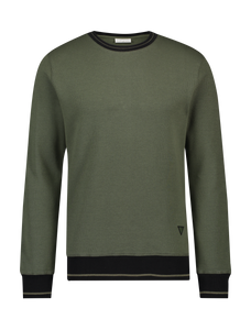 Contrast Sweater - Army Green