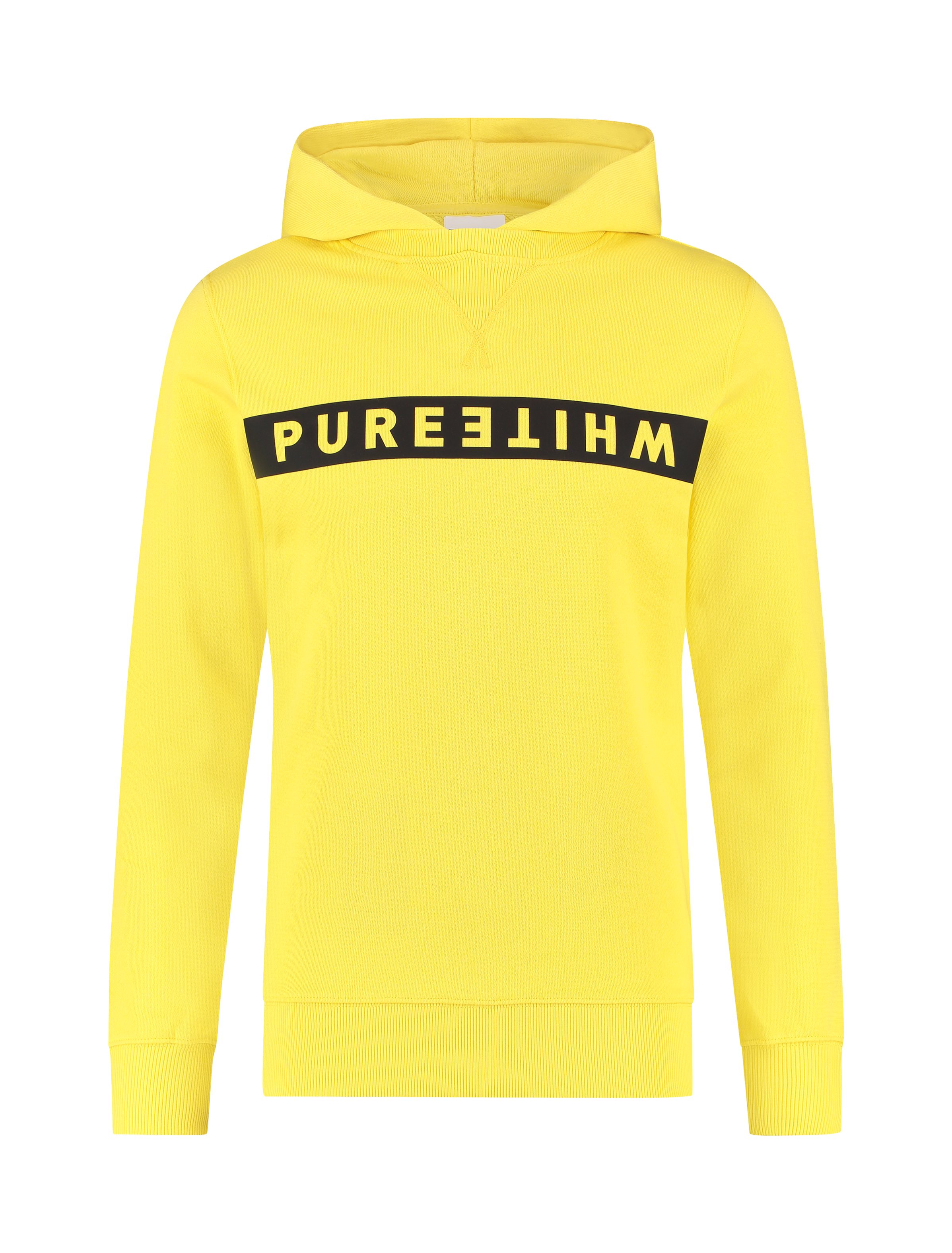 Reversed Logo Stripe Hoodie - Yellow