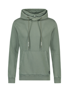Double Hooded Hoodie - Army Green