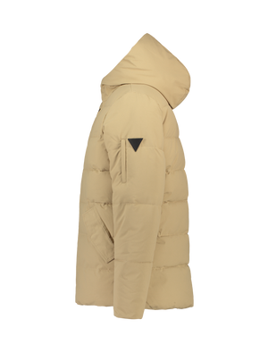 Quilted Padded Jacket - Sand