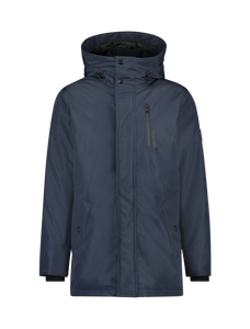 Zip Locker Parka Coat - Navy