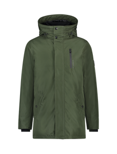 Zip Locker Parka Coat - Army Green
