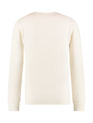 Jacquard Knitted Sweater - Off White