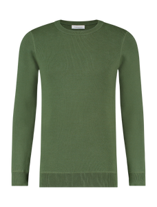 Knitted Sweater - Army Green