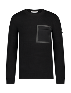 Knitted Crewneck Sweater - Black