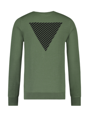 Knitted Logo Sweater - Army Green