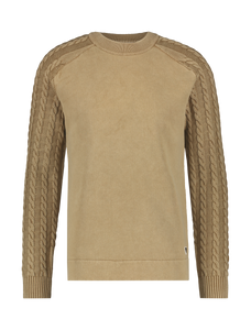 Cable Knitted Sweater - Sand