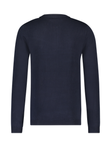 Long Sleeve Knitted Polo - Navy