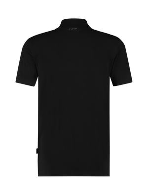 Short Sleeve Mockneck T-shirt - Black