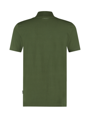 Short Sleeve Mockneck T-shirt - Dark Army