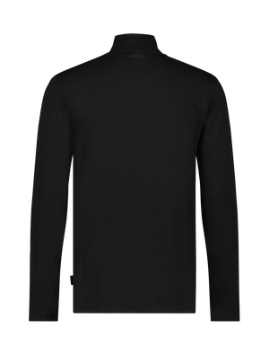 Long Sleeve Mockneck T-shirt - Black