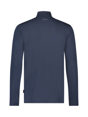 Long Sleeve Mockneck T-shirt - Navy