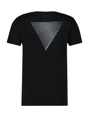 3D Embroidery Triangle T-shirt - Black