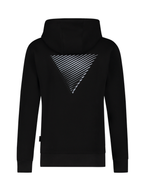 3D Embroidery Triangle Hoodie - Black