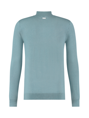 Essential Knit Mockneck - Blue