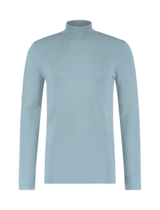 Essential Knit Turtleneck - Blue