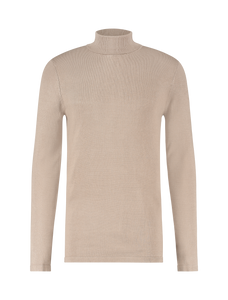 Essential Knit Turtleneck - Brown
