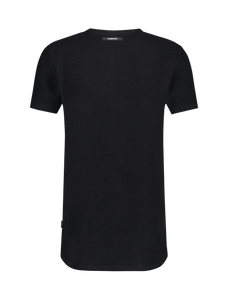 Ribbed T-shirt - Black