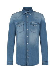 Denim Shirt - Mid Blue