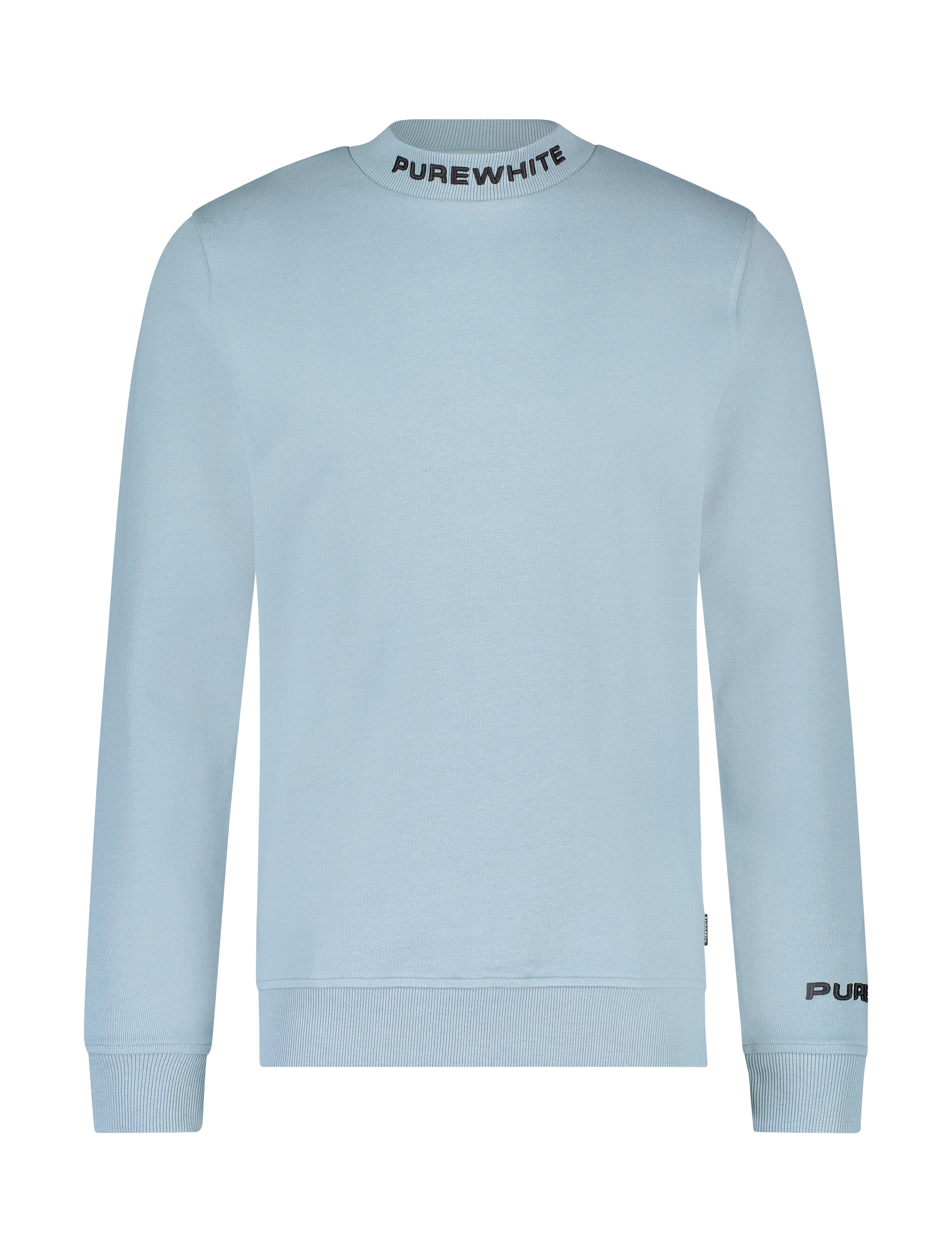 Mockneck Collar Logo Sweater - Blue