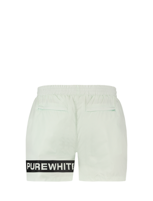 Logo Stripe Swim Shorts - Light Green