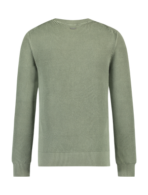 Garment Dye Knitted Sweater - Army