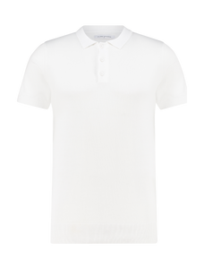 Knitted Polo - White