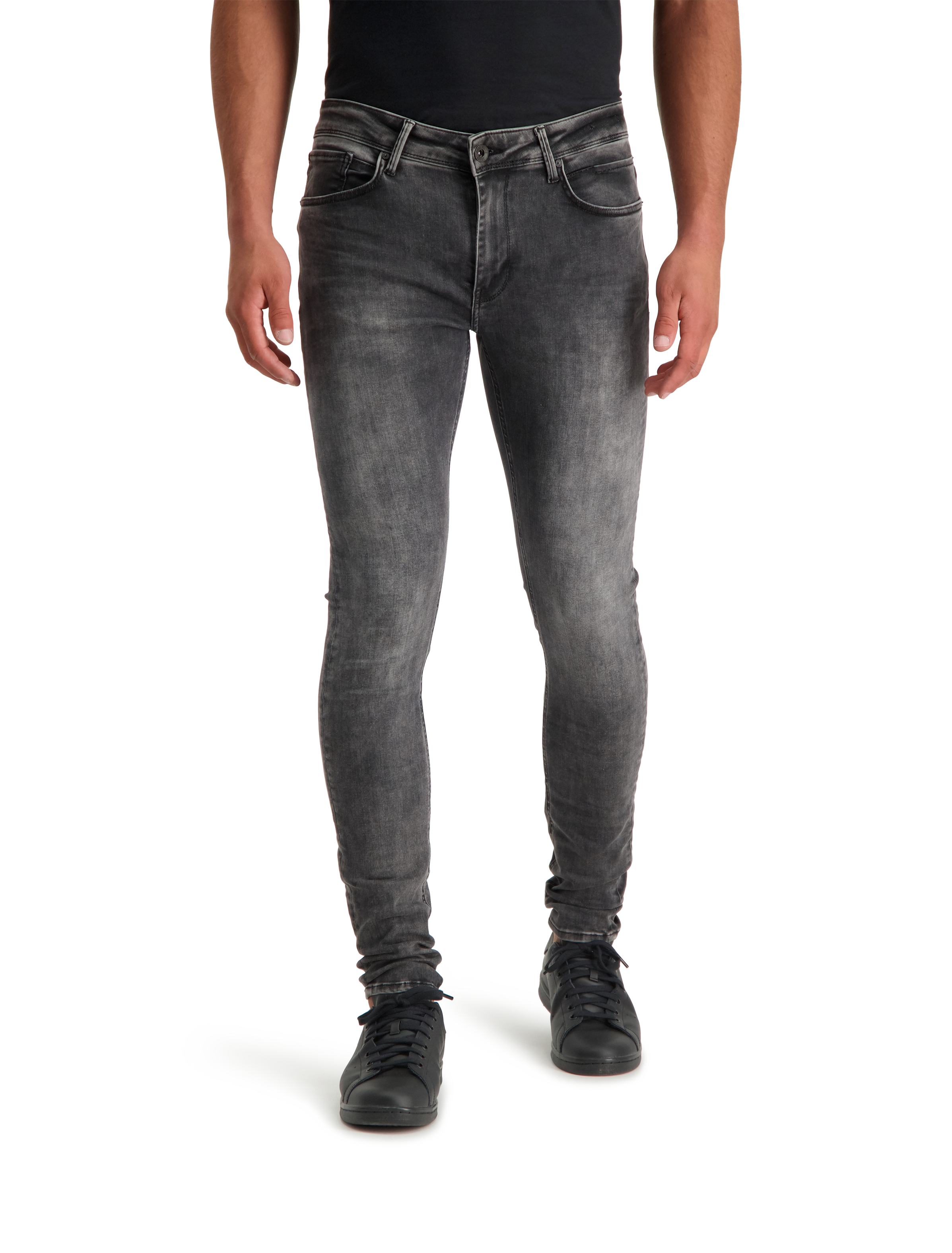 The Jone 126 Jeans - Worn Black