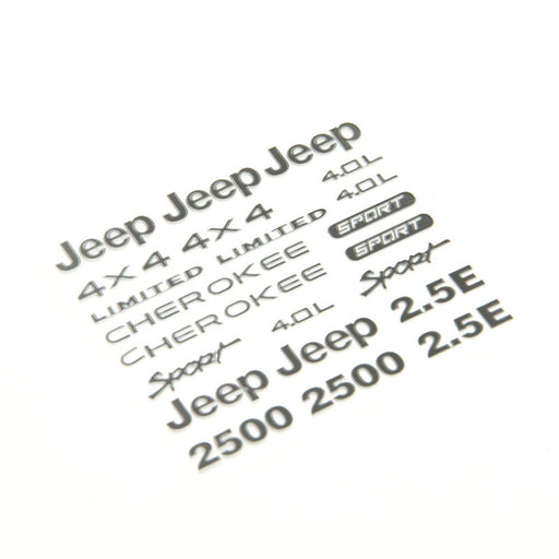 Jeep Body Scale Decal Set- Wrangler or Cherokee