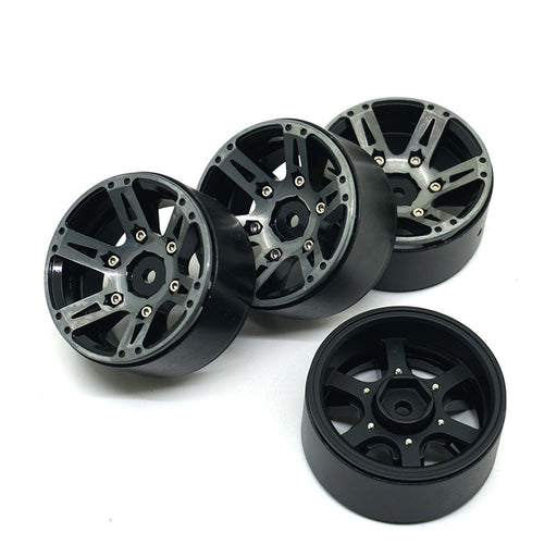 1.9 grey 6 spoke alloy beadlock wheels